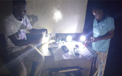 Night blood sample collection for screening of microfilariae, Tanzania. Photo: PROFORMA